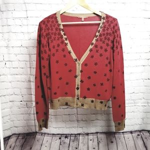 Not The Same Red Clover Cardigan Sweater 14/XL